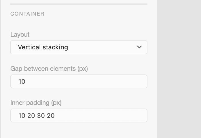 Smart Layout for Adobe XD: Container Properties