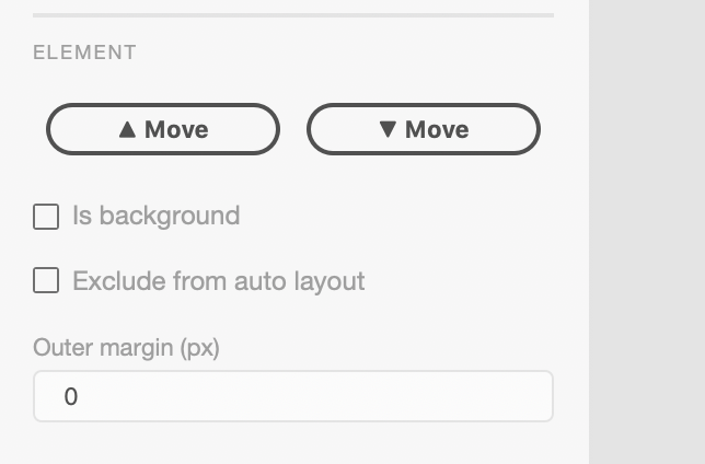 Smart Layout for Adobe XD: Element Properties