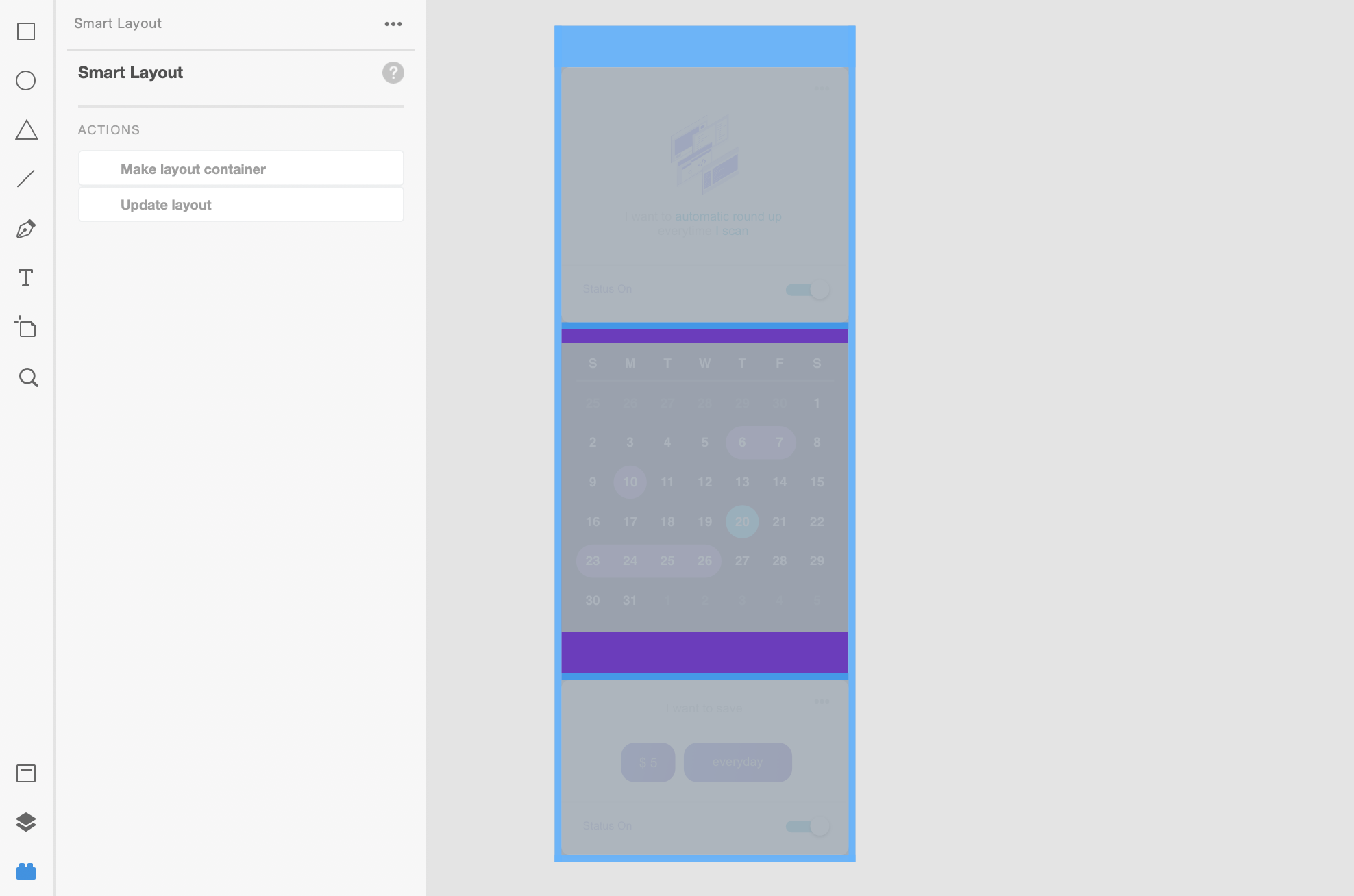 Smart Layout for Adobe XD: Visual Inspector